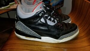 cheap for discount 31f68 23ef7 Details about ORIGNAL Nike Air Jordan III 3 Retro 2001 OG BLACK CEMENT  136064-001 Size 13