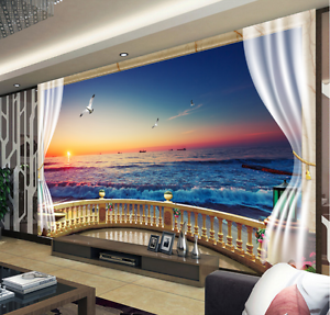 3D Sunset Sea 667 Paper Wall Print Wall Decal Wall Deco Indoor Murals