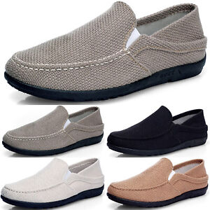 Men-039-s-Casual-Driving-Shoes-Slip-On-Canvas-Loafers-Moccasins-Light-Flat-Shoes
