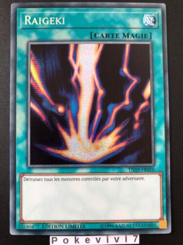 Card Yu-Gi-Oh Raigeki TN19-FR010 Fr Sr New