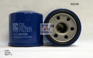 WESFIL-OIL-FILTER-FOR-Nissan-X-Trail-2-0L-2014-03-14-on-WZ436