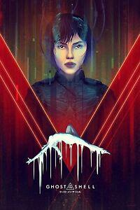Mondo Kevin Tong Ghost In The Shell Movie Poster Print Scarlett Johansson Ebay