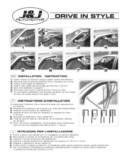 Delantero Desviadores De Viento Para Nissan Qashqai MK1 2007-2013 2pc Set tintadas Heko