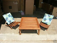 2 Pottery Barn Kids Outdoor Chesapeake Low sling back Chair Blue como wood new