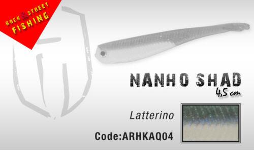 Italian designed Herakles Colmic soft plastic Nanho Shad 4.5cm 5 per pack LRF UL
