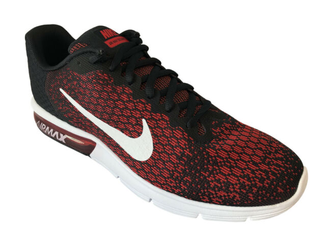 0754e4c6c62 Nike Air Max Sequent 2 II Red Black Men Running Shoes SNEAKERS 852461-006  12 for sale online