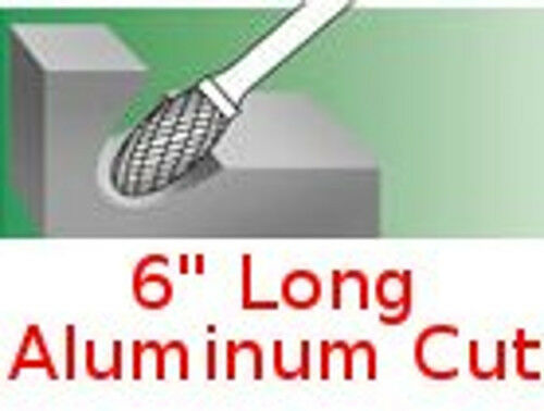 SE-1-NF L6 Long Oval Shape Carbide Bur Aluminum Cut burr rotary file non-ferrous