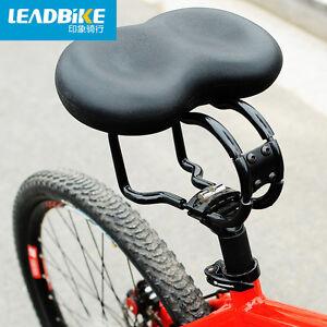 No Pressure Black Bicycle Seat Big Soft Bum Comfort Padded