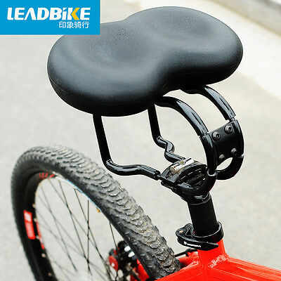 No Pressure Black Bicycle Saddle Seat Big Soft Bum Comfort Padded Adult Noseless