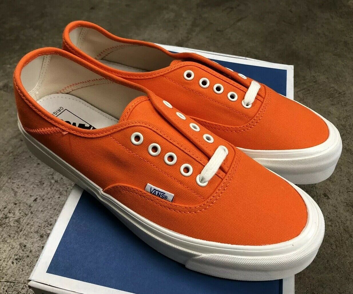 Vans OG Style 43 LX Canvas rot Orange Marsh Sz Mens 5.5   damen 7 NIB