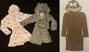 Primark Girls Hooded Dressing Gown Short Robe Age Uk 7 13 Years
