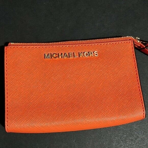 188bed996ca1 Michael Kors Jet Set Travel Large Key Pouch Leather Clementine for ...
