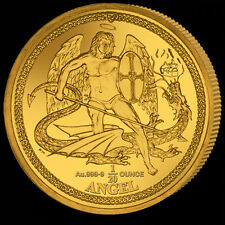 Isle of Man 1/20 Angel 2016 Proof Fine 999.9 Gold Christmas Angel w/Privy Mark