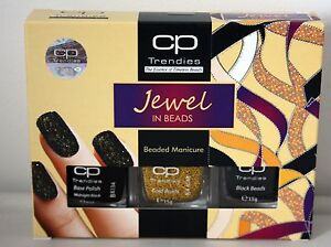 CP Trendies Jewel in Beads Nail Polish Beaded Manicure Varnish Black Base Gold - Wakefield, United Kingdom - CP Trendies Jewel in Beads Nail Polish Beaded Manicure Varnish Black Base Gold - Wakefield, United Kingdom
