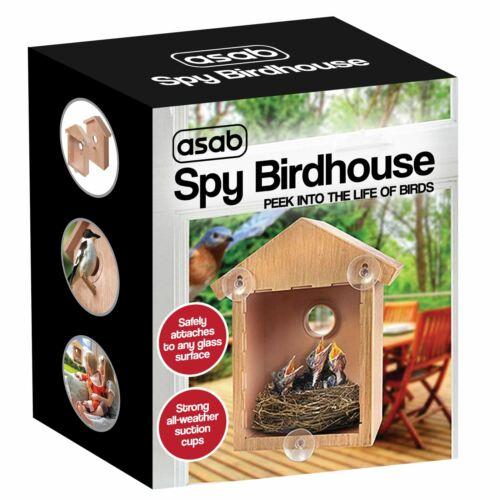 Neuf windows mount spy birdhouse nestingfeeding nature voir oiseau par fenêtre