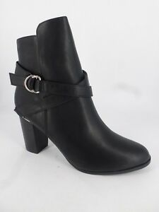 27a55353ad11 New Look Wide Fit metal trim Ankle Boots Black UK 7 EU 40 LN086 FF ...