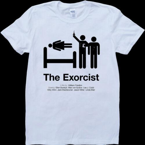 custom made t-shirt L/'exorciste blanc