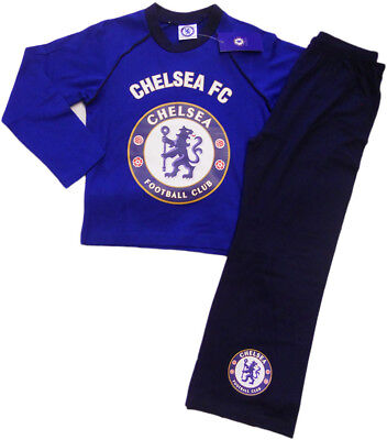Boys Official Chelsea FC CFC Football Club Crest Pyjamas Blue 4 to 12 Years