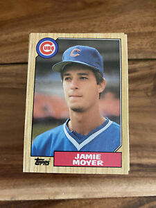 (100) 1987 Topps Jamie Moyer Rookie #227 Chicago Cubs NM+