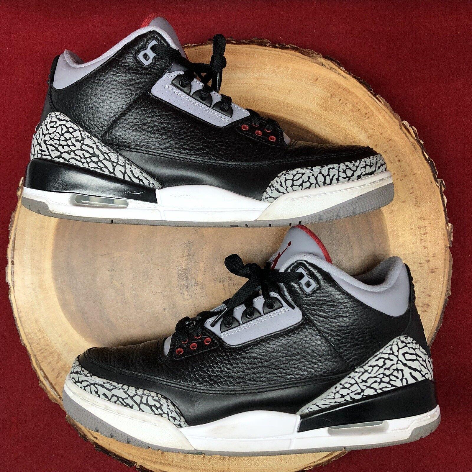 Nike Air Jordan Retro Bc3 3 Bc3 Retro Cemento Bianco Nero Sz 10,5 Iv 136064 010 Jumpman 2 eb156a