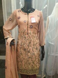 Indian-Pakistani-Shalwar-Kameez-Salwar-Saree-Suit-Dress-Wedding-Designer-Pink