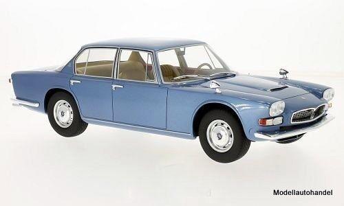 Maserati QUATTROPORTE I Metallic bluee 1966 1 18 BOS
