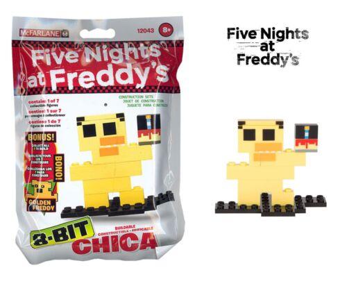 Cinq nights at freddys chica 8-Bit construction set superposée figure mcfarlane