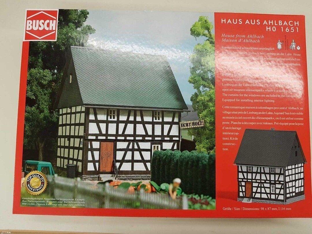Busch 1651 kit de montage  maison ahlbach   chelle h0   neuf emballage