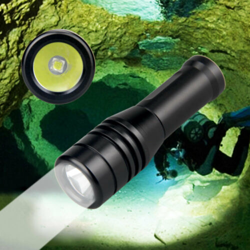 Mini 570LM Diving Flashlight IP68 Waterproof LED Underwater 80M Diving Torch