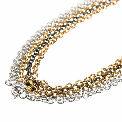 10pcs 3*4mm Gold Silver Iron Open Link Chains Necklace for Jewelry Making