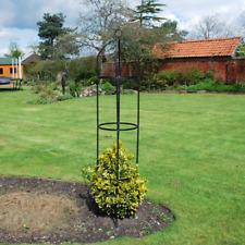 Superbe 1.9m Black Metal Garden Obelisk Plant Support Frame Outdoor Trellis Pyramid  Tall