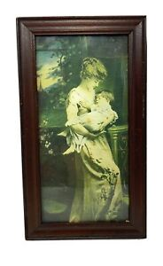 Antique-Victorian-Colorized-Photo-of-Mother-and-Child