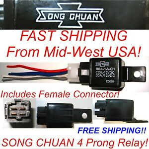Details about 1 Song Chuan Power Relay With connector 804-1A-C1 30A on