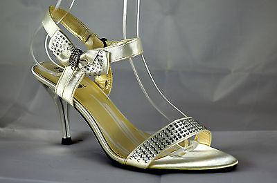 Elegante Damen Riemchen Sandalen High Heels Pumps Weiß Sandaletten G.36-41 A.S03