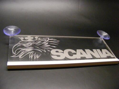 LED Interior Cabin Light Plate for SCANIA Truck Laser Neon Illuminating Sign 12V