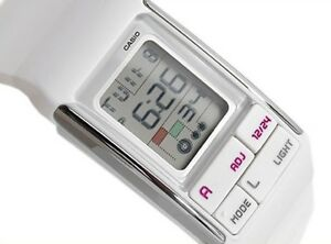 7e6fafc128ca New Casio LDF-52-7A Ladies POPTONE Dual Time Digital Stylish White ...