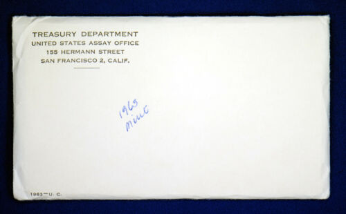"Mint Set Envelope Still Sealed. All /""PD/"" mints 1963 Official U.S 10 Coins"