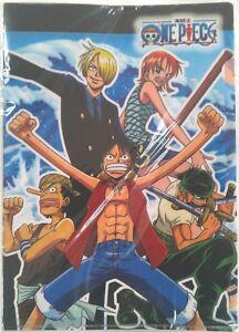 One Piece Characters A4 File A Luffy Nami Zoro Sanji