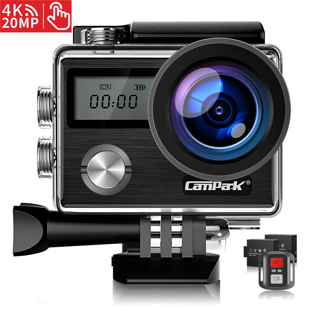 Campark 4K Sports Action Camera Touch Screen 20MP Waterproof WIFI Dual LCD EIS 20mp action camera campark dual screen sports touch waterproof wifi
