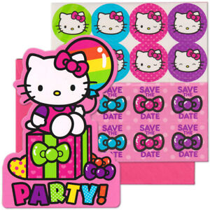 Pack-of-8-Hello-Kitty-Birthday-Party-Post-Card-Invitation