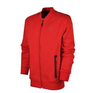 Chispa  chispear Concentración La Iglesia  Puma Ferrari Rojo Sudor Chaqueta de hombre Full Zip chaqueta de ...