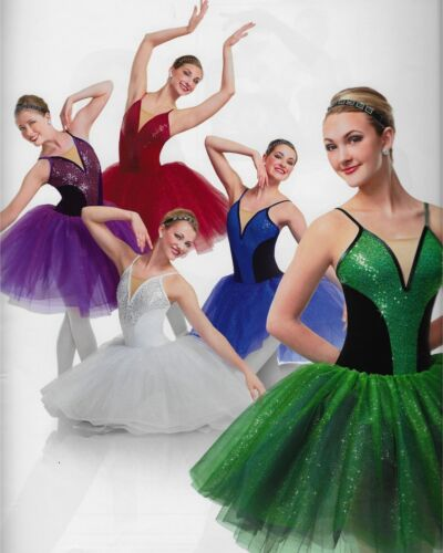 Jewels Gems Holiday Sparkle Long Romantic Ballet Tutu Curtain Call Dance Costume
