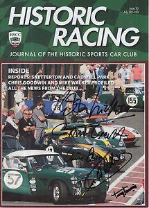 Historic-Racing-Magazine-Hand-Signed-5-Autographs-F1