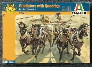 Italeri-6874-Gladiators-avec-Quadriga-Gladiateurs-Figurines-Chevaux-1-32-V-1869