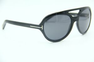 34093dbed49 NEW TOM FORD TF 141 01A HENRI BLACK AUTHENTIC FRAME SUNGLASSES 57-17 ...