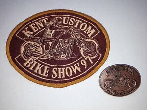 NEW-Hells-Angels-Kent-Custom-Show-1997-Patch-amp-Pin-Badge-Bike-Memorabilia