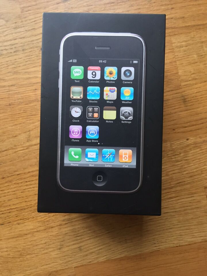 iPhone 3G, 8 GB, sort