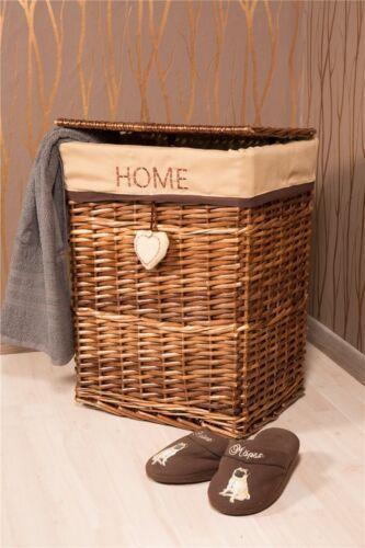 Wäschekorb Wäschesammler aus Weide braun *632