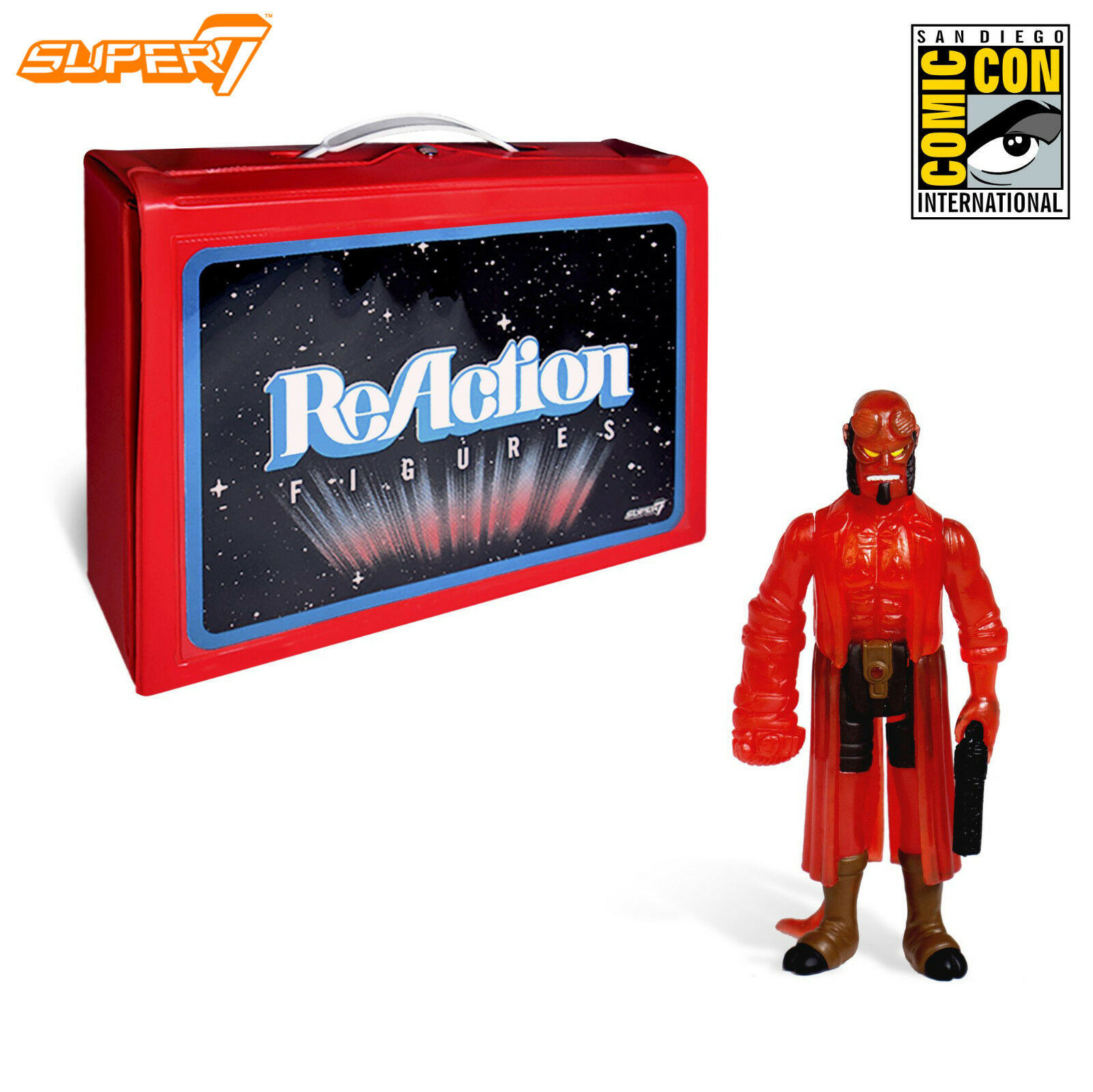 Super7 SDCC 2018 Exclusive Clear ROT Hellboy ReAction 3.75