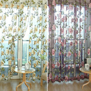 100-200cm-Peony-Flowers-Curtain-Door-Curtain-Window-Room-Divider-Valance-ZN-FJ